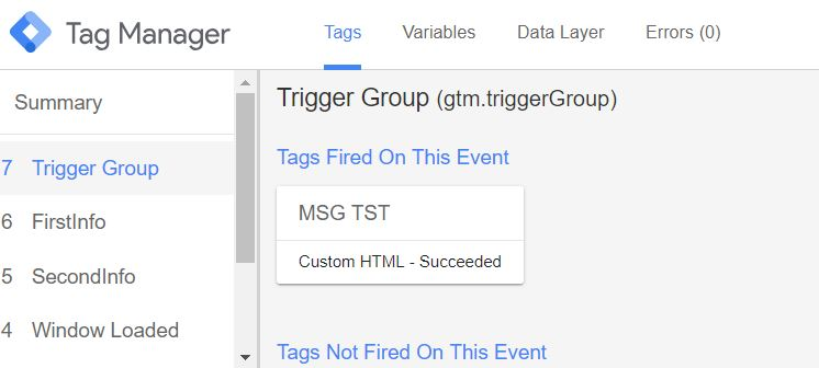 GTM - Trigger Triggergroup