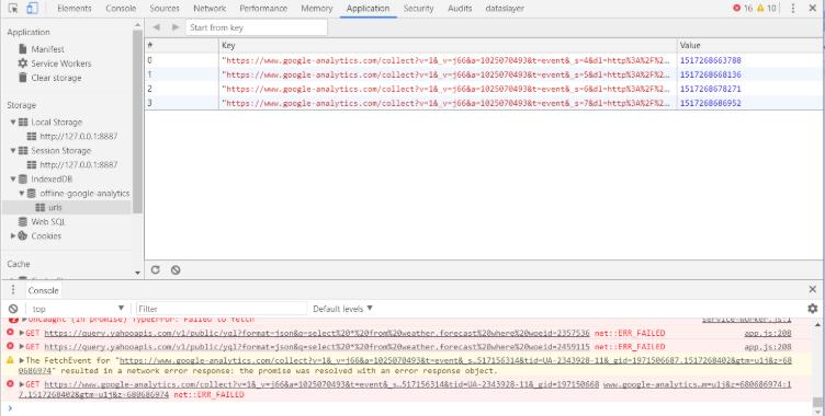 pwa-googleanalytics-indexdb