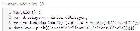 googleanalytics clientid datalayer