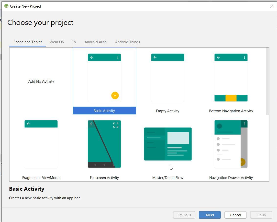 Android-Studio-Activities