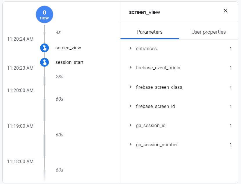 firebase-debugview-screen_view_events