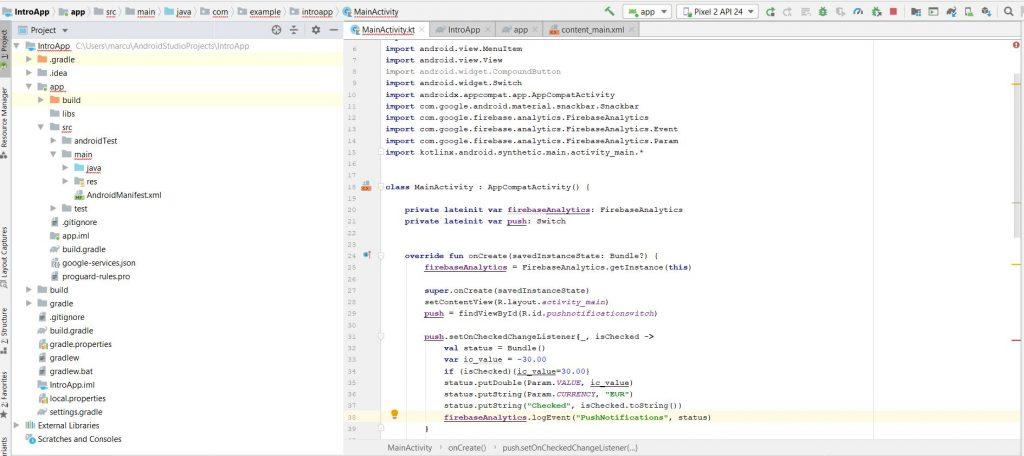 android-studio-sendeventcode