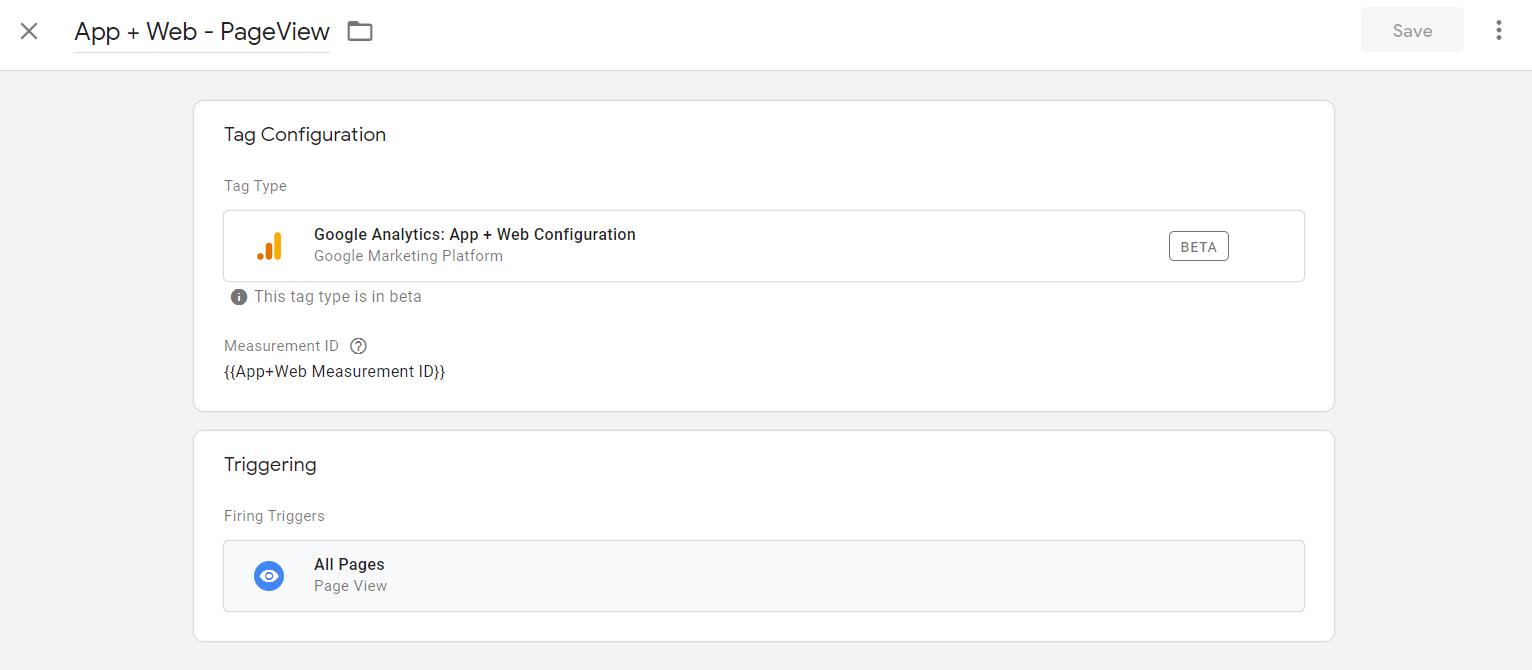 App+Web Configuration Tag