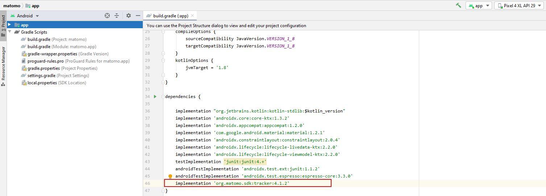 matomo_uildgradle_implementation